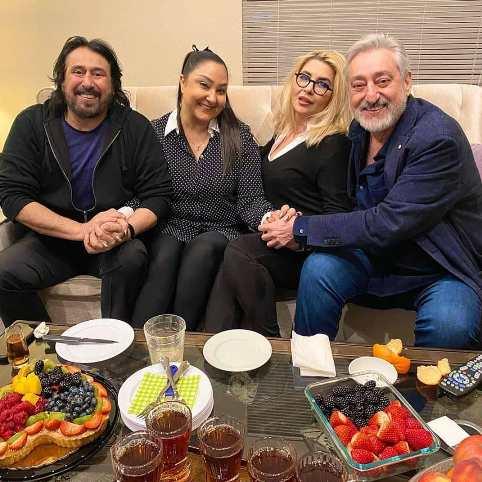 ابی و همسرش در جشن تولد شهرام شب پره + عکس