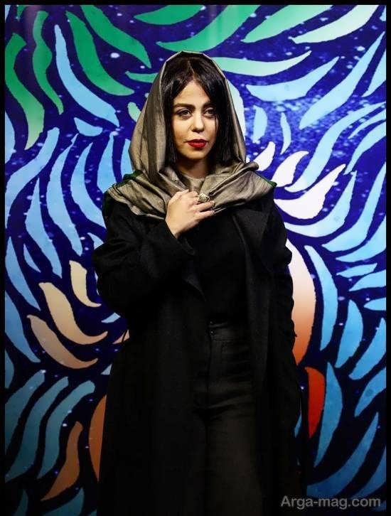 تیپ زیبا و جذاب الهام اخوان در جشنواره فیلم فجر+ عکس