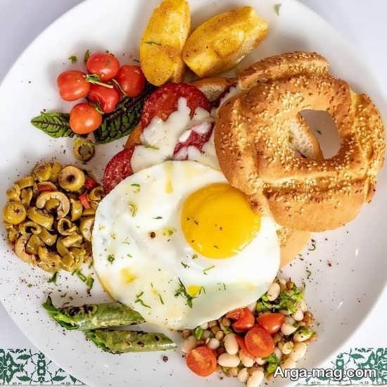 تزیین نیمرو صبحانه برای کودکان
