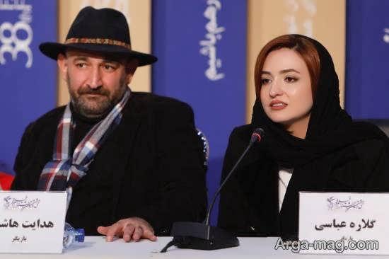 حضور گلاره عباسی در نشست خبری فیلم «پدران»
