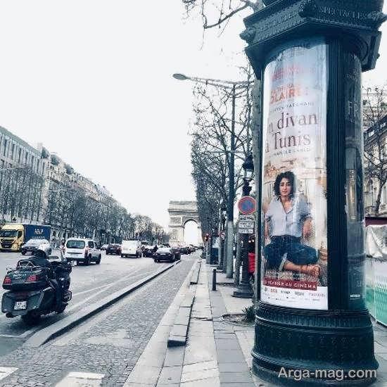 تصویر متفاوت گلشیفته فراهانی بر روی پوستر فیلم در اقسام نقاط پاریس!