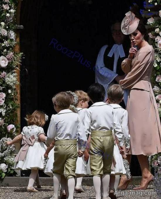 """پوشش شیک کیت میدلتون در جشن ازدواج خواهر کوچکش""""پیپا"""""""