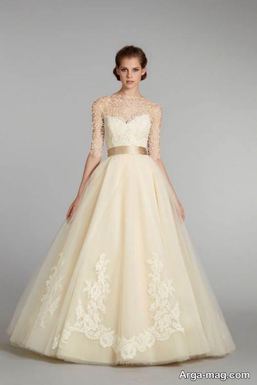 لباس عروس دکلته نباتی
