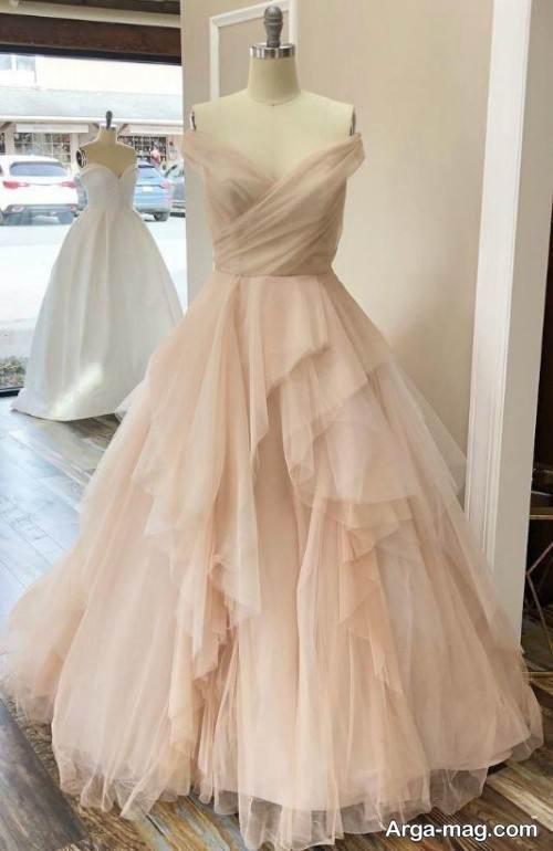 مدل لباس عروس زیبا نباتی