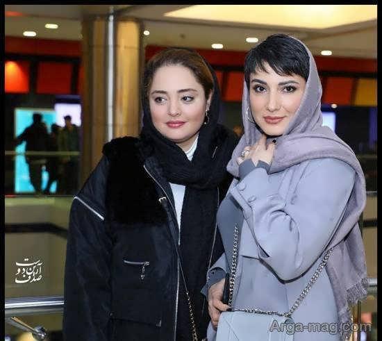 نرگس محمدی با پوشش زمستانی شیک در اکران «سه کام حبس»