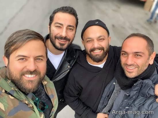 نوید محمد زاده و هومن سیدی پشت صحنه سریال «قورباغه»/ عکس