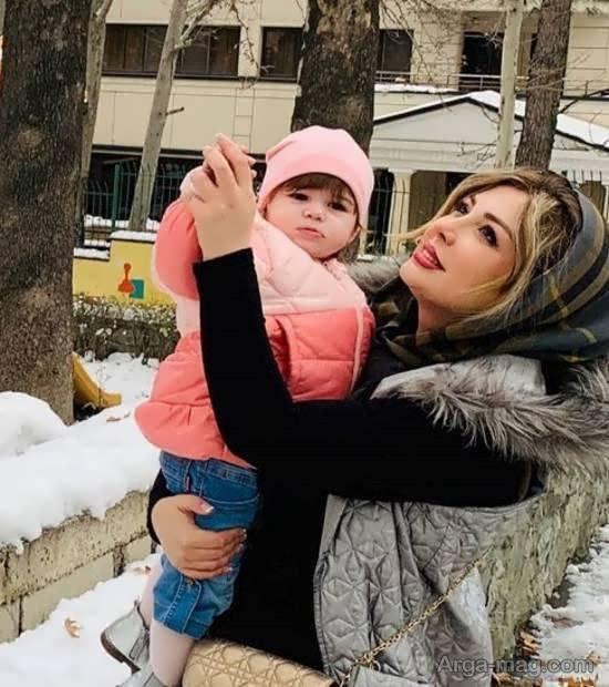 عکس جالبی از چهره ی زیبای نیوشا ضیغمی و دخترش لنا