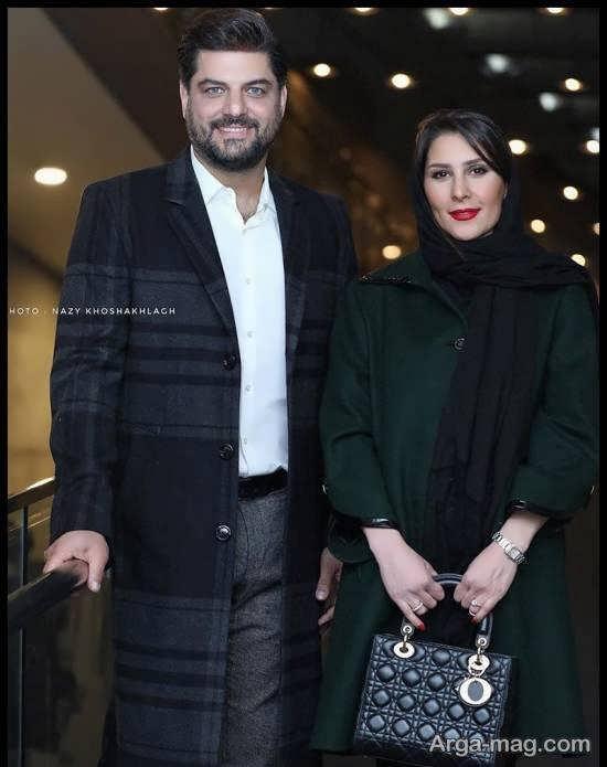سام درخشانی به همراه همسرش در نشست خبری فیلم«خوب، بد، جلف؛ ارتش سری» / عکس