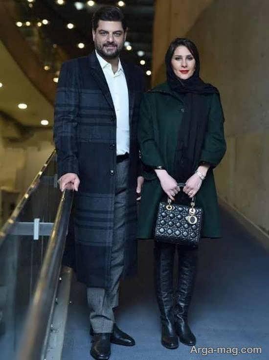 عکس های جالب و صمیمی سام درخشانی و همسرش در جشنواره فیلم فجر