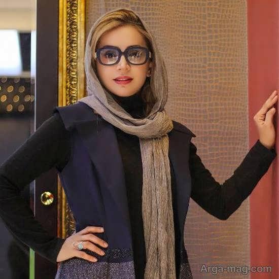 چهره ی زیبای شبنم قلی خانی با عینک جدیدش