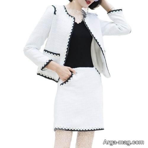 کت و دامن دخترانه سفید