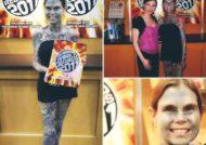 جولیا گنوس معروف به بانوی منقوش با 95 درصد خالکوبی
