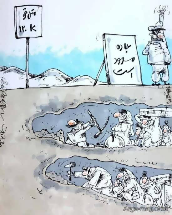 لجاجت مردم برای سفر به شمال/عکس کارتونی