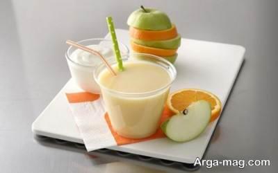 اسموتی سیب و پرتقال
