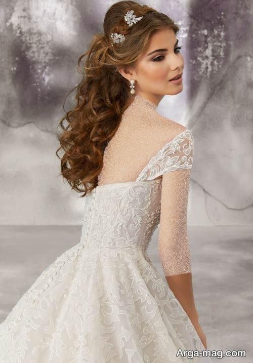 شینیون مو و آرایش صورت عروس