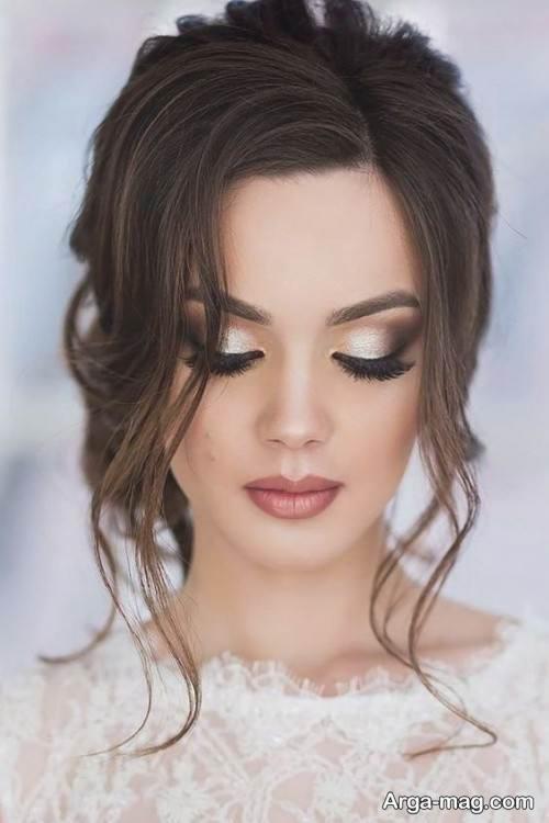 مدل آرایش موی بسته برای عروس