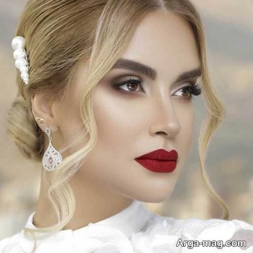 مدل عروس 2020 با شینیون و آرایش زیبا