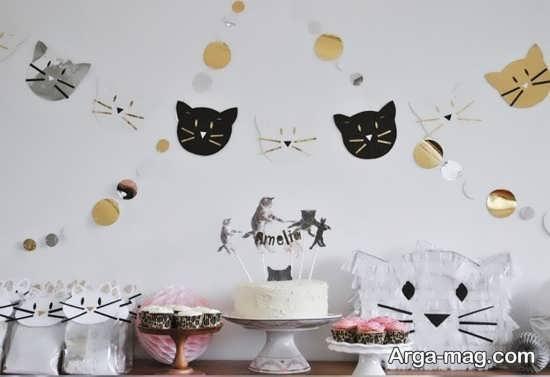 تزیینات تولد با طرح گربه