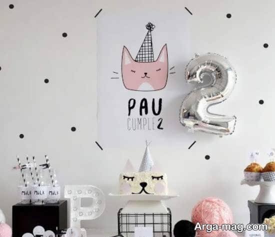 دیزاین تولد با تمی از گربه