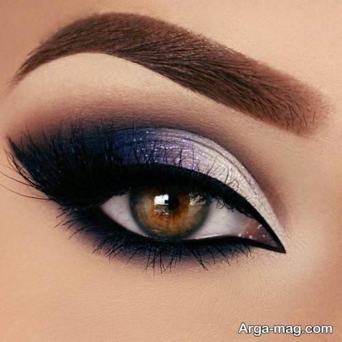 آرایش چشم تیره زیبا