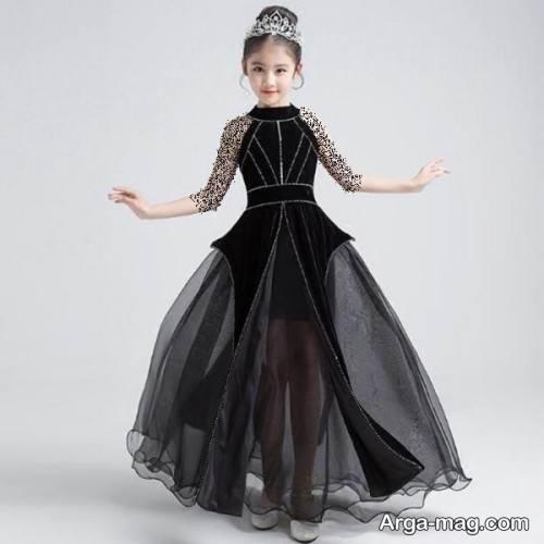 لباس مجلسی مشکی دخترانه