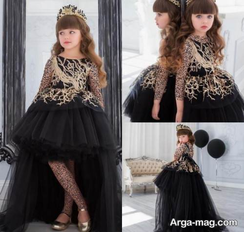 لباس مجلسی کار شده دخترانه