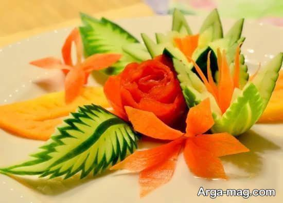 حکاکی خیار و دیگر میوه ها