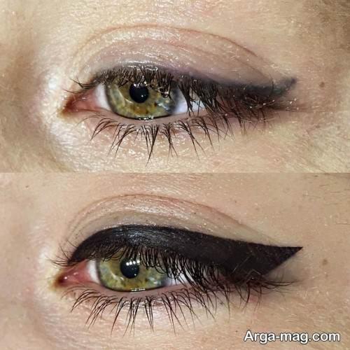 تاتو خط چشم پهن