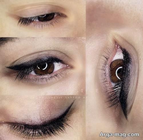 تاتوی خط چشم زیبا و شیک