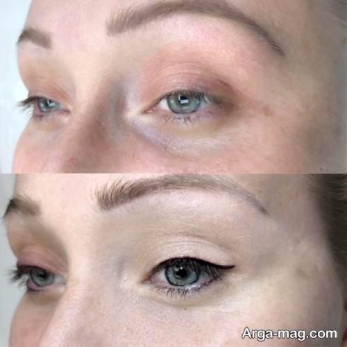 مدل تاتو خط چشم زنانه