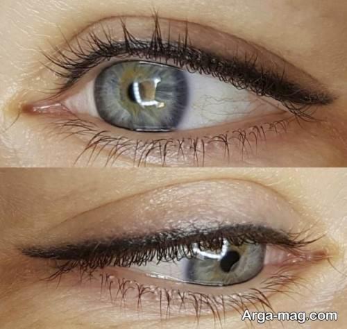 تاتو خط چشم ساده