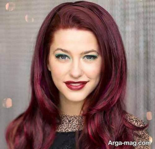 مدل آرایش صورت متناسب با رنگ مو قرمز