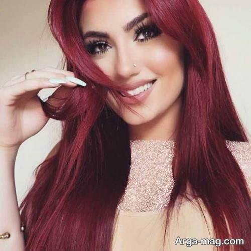رنگ موی شرابی زنانه