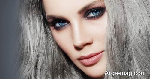 رنگ مو خاکستری زنانه