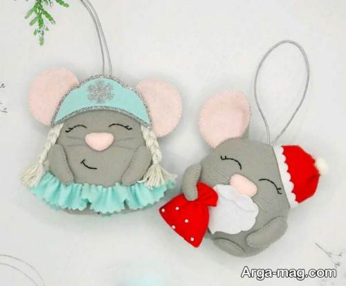 موش ساخته شده با نمد