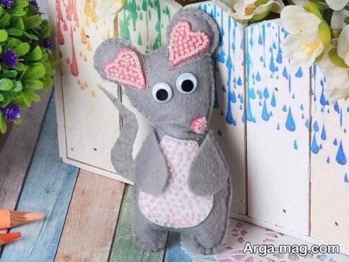عروسک موش صورتی و طوسی