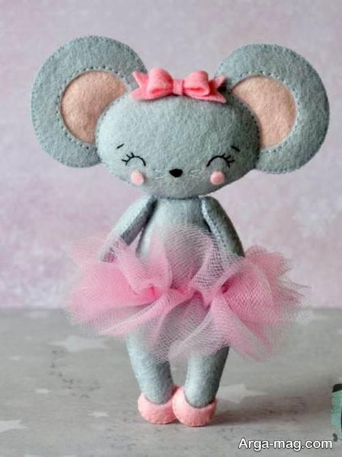 ساخت عروسک موش با نمد