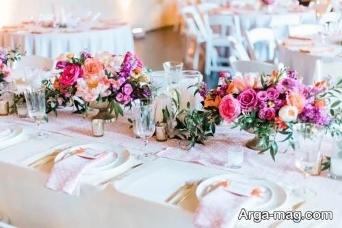 تزیین میز پذیرایی با گل