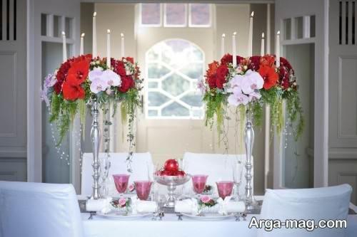 گل آرایی میز با روش های جالب