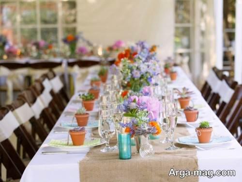 روش هایی برای تزیین میز با گل