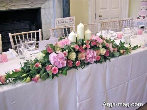 تزیین میز با گل