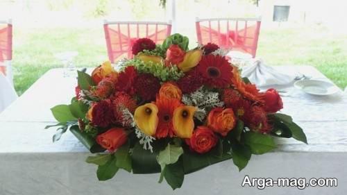 گل آرایی میز شیک
