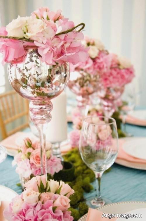 گل آرایی میز شام