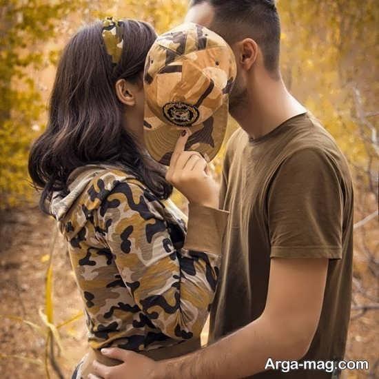 ژست عکس با همسر بسیار زیبا و عاشقانه