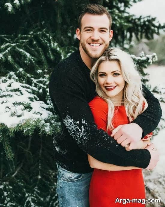 ژست عمس زمستانی با همسر