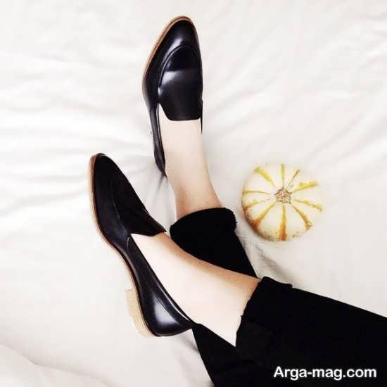 نمونه کفش ورنی مشکی دخترانه