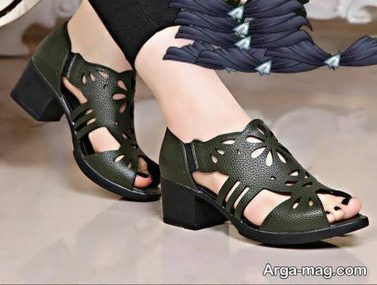 نمونه کفش چرم دخترانه