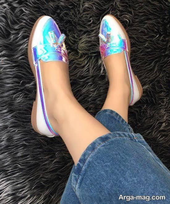 نمونه کفش جدید هولوگراتی دخترانه