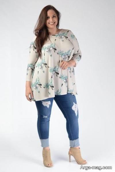 مدل لباس برای خانم ها با شکم چاق