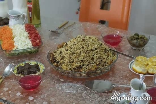 تزیین غذا به سبک ایران